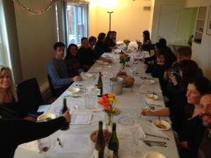 A full house enjoyed delicious wine and food.